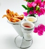 Devnow Porcelain French Fry Holder with Stand