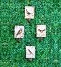 Wooden Birdie Print Hook - Set of 4 by Deziworkz