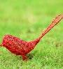 Red Metal Sparrow Wired Birdie by Deziworkz