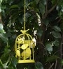 Deziworkz Yellow Small Hanging Bird Cage