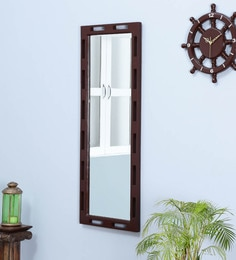 Natural Pine Wood Rajputana Handcrafted Full Length Mirror