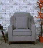 Diego One Seater Sofa in Ash Grey Colour