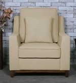 Diego One Seater Sofa in Beige Colour