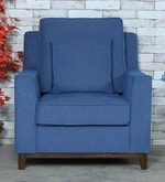 Diego One Seater Sofa in Denim Blue Colour