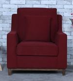 Diego One Seater Sofa in Garnet Red Colour