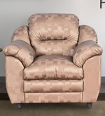Dilly One Seater Sofa in Golden Colour