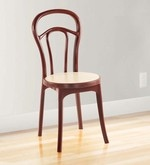 Dining Chair in Maroon & Cream Colour