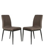 Dining Chair Set of 2 in Brown Colour
