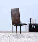 Dining Chair with Wooden Back