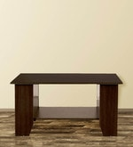 Dion Centre Cum Coffee Table in Brown Finish