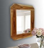 Brown Teak Wood Classic Mirror