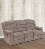 Divine Three Seater Recliner in Brown Colour