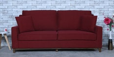 Diego Three Seater Sofa in Garnet Red Colour