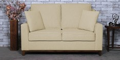Diego Two Seater Sofa in Beige Colour
