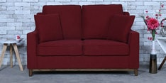 Diego Two Seater Sofa in Garnet Red Colour