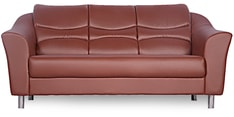 Diva Three Seater Sofa in Brown Finish