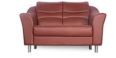 Diva Two Seater Sofa in Brown Finish