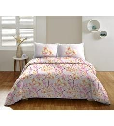 Dicitex Floral Multicolour 100% Cotton Single Bed Sheet (with Pillow Covers) - Set Of 2 - 1392337