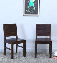 Acropolis Dining Chair (Set Of Two) In Warm Chestnut Finish