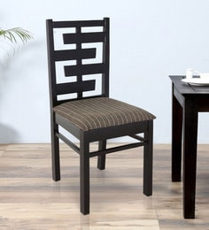 Dining Chair In Matte Rosewood Finish By Furncoms - 1585096