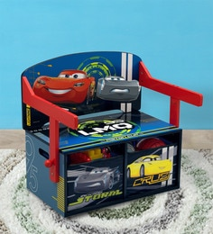 Disney Cars 3 In 1 Convertible Bench Desk With Storage In Red