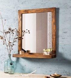 Distress Grey Solid Wood & Glass Havana Vintage Grey Mirror
