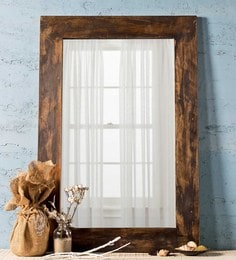 Distress Grey Solid Wood & Glass Savannah Vintage Grey Mirror