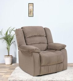 Divine One Seater Recliner In Brown Colour By Royal Oak