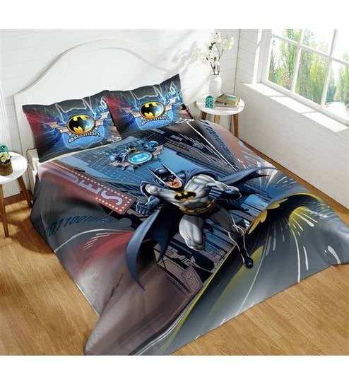 Dicitex Batman Cotton King Bed Sheet Set