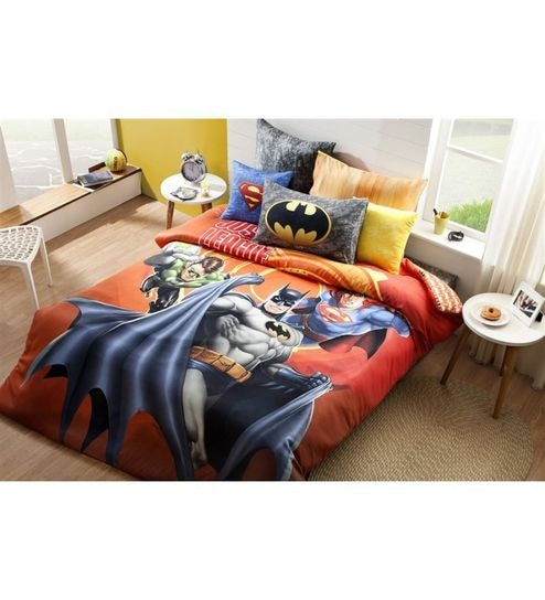 Dicitex Batman Cotton Single Bed Sheet Set