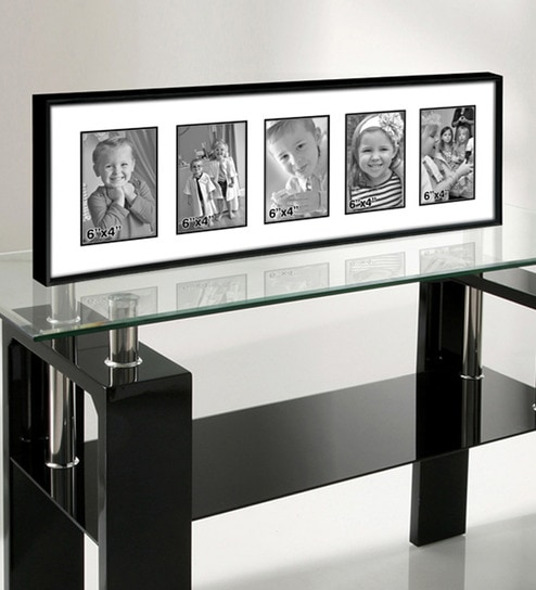 buy black metal 10 x 28 inch collage photo frame by elegant arts and