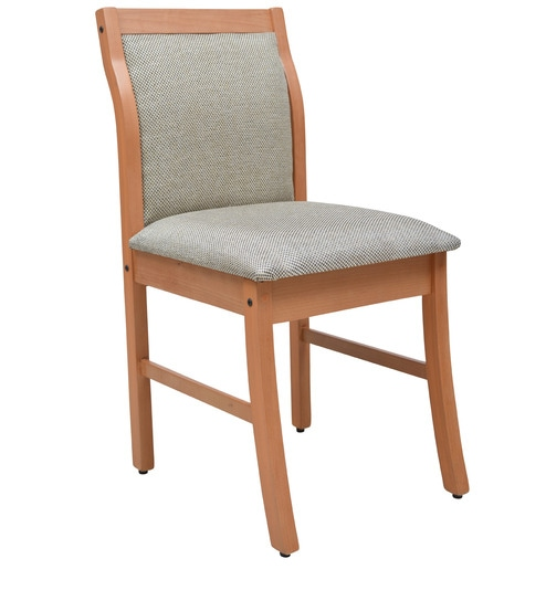 Dining Chair With Full Back Cushion In Natural Colour By Crystal Furnitech