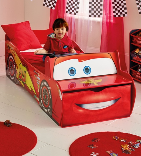 new styles 3d904 a5aa0 Disney Cars Lightning McQueen Toddler Bed in Red by Cot & Candy
