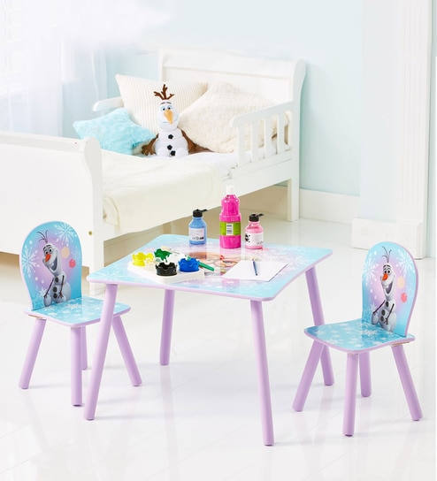 Awe Inspiring Disney Frozen Table And 2 Chairs Set By Cot Candy Caraccident5 Cool Chair Designs And Ideas Caraccident5Info