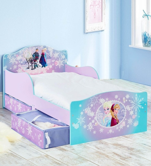 Buy Disney Frozen Toddler Bed With Storage Drawers By Cot Candy