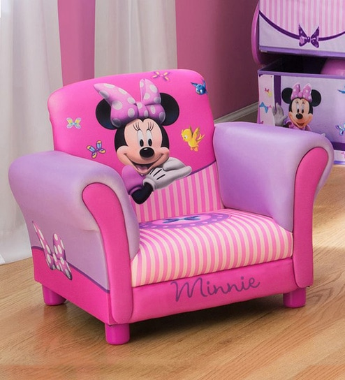 Miraculous Disney Minnie Mouse Hardwood Upholstered Chair In Multi Color By Cot Candy Creativecarmelina Interior Chair Design Creativecarmelinacom