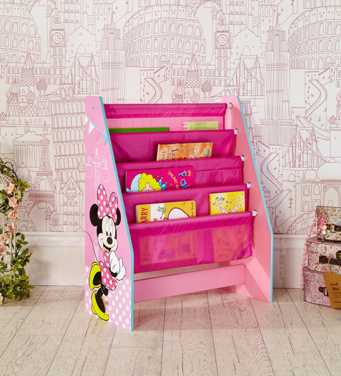 Buy Disney Minnie Mouse Sling Bookcase In Pink By Cot Candy