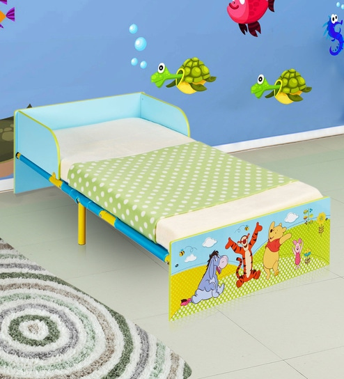 a40cc3163db3 Buy Disney Winnie the Pooh Toddler Bed in Multi Color by Cot   Candy Online  - Kids Beds - Kids Furniture - Furniture - Pepperfry Product