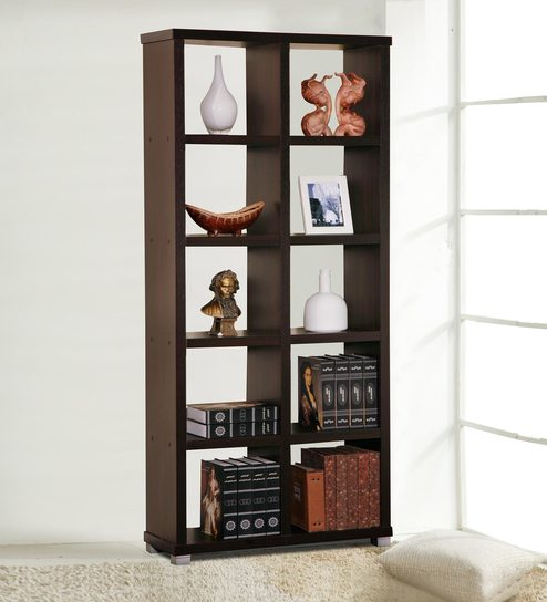 Buy Display Unit cum Book Shelf in Wenge Finish by Marco Online ...