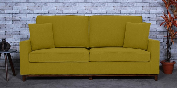 Swell Diego 3 Seater Sofa In Olive Green Colour By Woodsworth Beatyapartments Chair Design Images Beatyapartmentscom