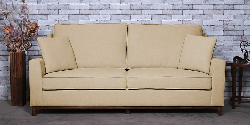 Diego Three Seater Sofa in Beige Colour by CasaCraft