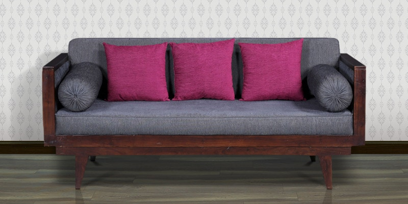 Dillon Three Seater Sofa in Passion Mahogany Finish by Woodsworth