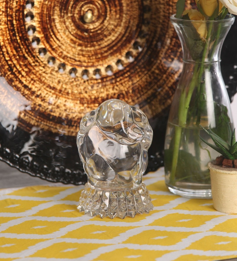 Silver Crystal Ganeshji Idol by Diamond Crystal