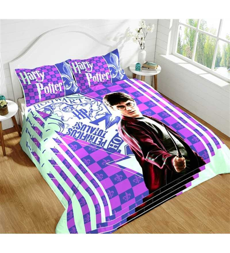 Marvelous Buy Harry Potter Multicolour 100 Cotton Single Size Bedsheet With .