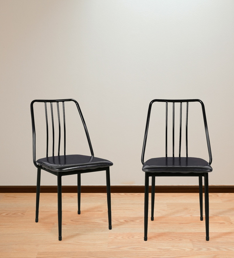Dining Chair (Set of 2) in Black Colour by Parin