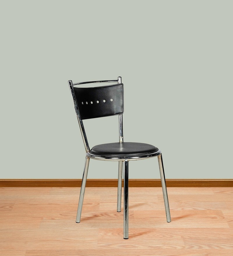 Sleek Dining Chair in Black Colour by Parin