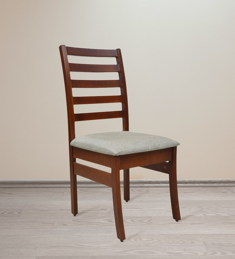 Dining Chair in Light Teak Finish by Crystal Furnitech