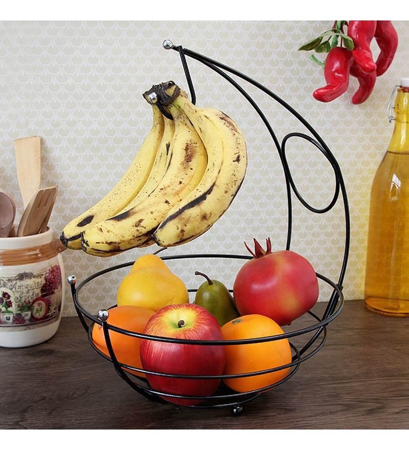 Disha Fruit Basket - Kangaroo (Black Finish)