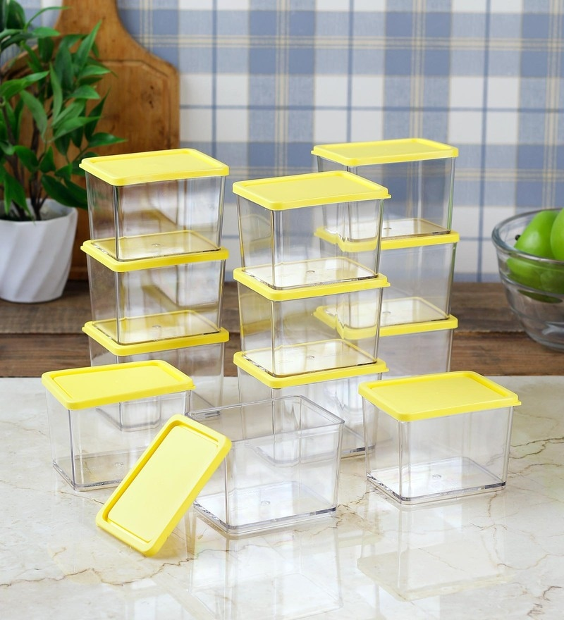 Disha Yellow 375 ML (Each) Storage Container - Set of 12