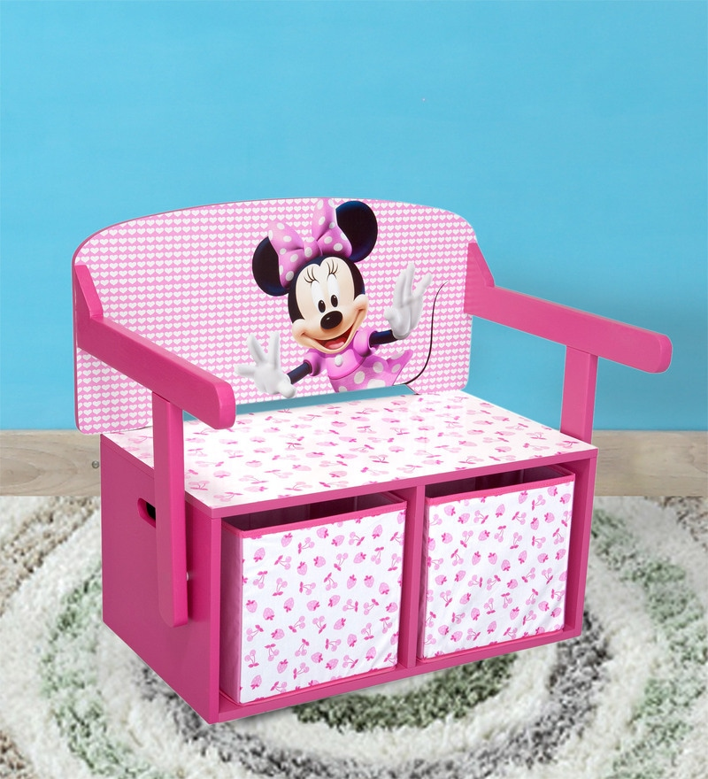 Pleasant Disney Minnie Mouse 3 In 1 Convertible Bench Desk With Storage In Multi Color By Cot Candy Creativecarmelina Interior Chair Design Creativecarmelinacom